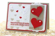 Karte Hochzeit, Wedding, Stampin' Up!, gefunden auf www.stempel-biene.com