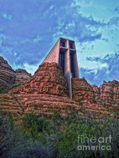 Sedona Arizona. Chapel built into the rocks.