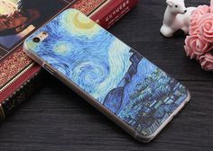 Cell Phone Protective Cover For Apple iPhone SE 4 4s 5 5s 6 6plus 6s 6splus 3D Patterns Van Gogh Starry Night Phone Case
