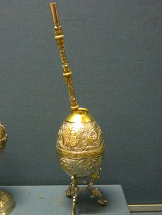 The cup and straw that South American use to drink their herbal tea (Yerba Mate)