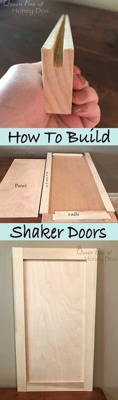 Ted's Woodworking Plans - How to Build Shaker Doors - Get A Lifetime Of Project Ideas & Inspiration! Step By Step Woodworking Plans Woodworking Projects Diy, Woodworking Jigs, Woodworking Furniture, Diy Wood Projects, Furniture Plans, Kids Furniture, Furniture Making, Woodworking Nightstand, System Furniture