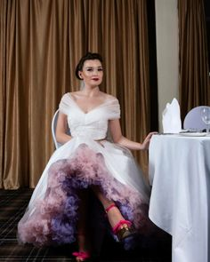 Burnhouse Manor Hotel - Dragonfly Dress Design Copyright Photography by Duncan Holmes. Love the top part of the dress and loving the purple and pink underskirt.