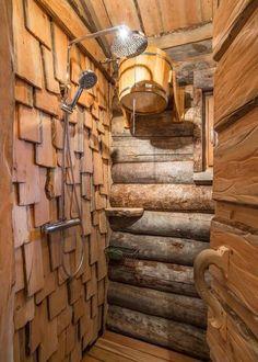 Фотоохота: 61 идея оформления парилки и предбанника Sauna House, Sauna Room, Spa Day At Home, Home Spa, Homemade Sauna, Scandinavian Saunas, Sauna Shower, Modern Small House Design, Earthship Home
