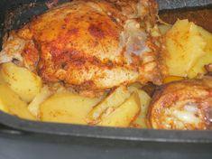 Kuracie štvrte so zemiakmi