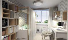 Pokój nastolatki 2 - Średni pokój dziecka dla dziewczynki dla ucznia dla nastolatka, styl skandynawski - zdjęcie od Agata Hann Architektura Wnętrz