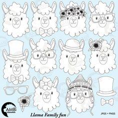 Llama Alpaca, Baby Alpaca, Alpacas, Llama Clipart, Llama Drawing, Llama Stuffed Animal, Llama Face, Diy Bebe, Unicorns And Mermaids