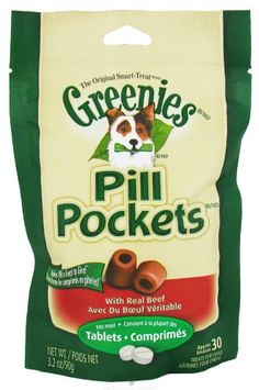 Greenies Pill Pockets, Beef, 3.2 oz, for Tablets