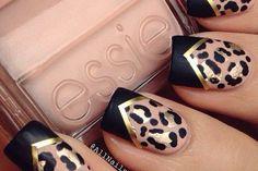 Estampado de guepardo o estampado de leopardo, es una excelente manera de expresar su amor por la vida silvestre en particular. Ha sido durante mucho tiempo un estilo de moda popular que siempre es atractivo para las mujeres. La mayoría de las mujeres aman los diseños de leopardo o guepardo tanto que a menudo […] Leopard Prints, Trendy Nails, Glitter Nails, Nail Polish, Black, Ideas, Glitter Accent Nails, Black People, Gem Nails