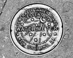 Photograph Print  NOLA Water Meter New Orleans  by AlexBalcer