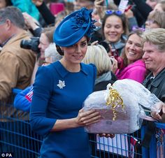 The Duchess was presented with a gift...