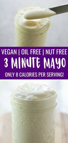 This vegan mayonnaise recipe is easy, oil free and perfect anywhere you need mayo! #plantbased #oilfree #vegan