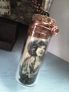 annie oakley glass vial necklace