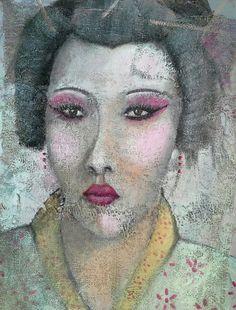 Geisha  50x70 cm Luigi Torre painter 2015 Geisha, Luigi, Halloween Face Makeup, Painting, Art, Art Background, Painting Art, Kunst, Paintings