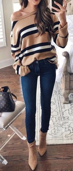 95 Simple Stunning Fall Outfits Ideas You Have To See mode Preppy Summer Outfits, Casual Fall Outfits, Fall Winter Outfits, Spring Outfits, Trendy Outfits, Cute Outfits, Work Outfits, Black Outfits, Winter Dresses