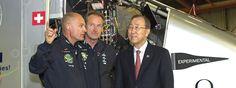 El secretario general de las naciones unidas elogia el logro   del vuelo propulsado por energía solar