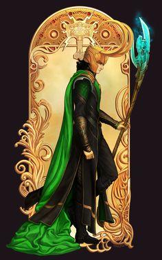Loki Art Nouveau