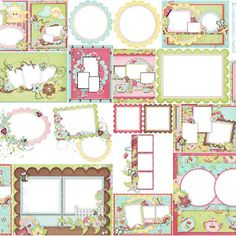 Frames from Tea and Cupcakes Clipart. | Oh My Fiesta For Ladies! Printable Frames, Printable Paper, Birthday Woman, 16th Birthday, Homemade Envelopes, Cupcake Clipart, Spanish Party, Japanese Party, Diva Party