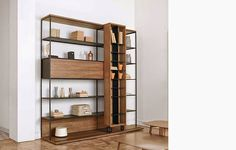Literatura Open Bookcase by Punt Mobles literatura open bookcase 5 Steel Furniture, Industrial Furniture, Modern Furniture, Furniture Design, Cheap Furniture, Discount Furniture, Open Bookcase, Bookcase Shelves, Storage Shelving