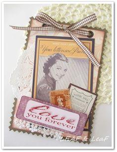 LEAFの「手作りカード」な暮らし。/ 手作りペーパーアイテムのお店「LEAF SHOP」-バレンタインデーの手作りカード