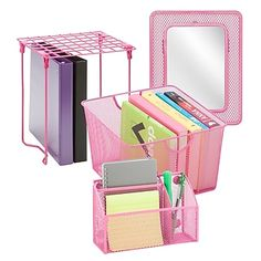 Shop for Honey-Can-Do Purple Back to School Kit Get free delivery On EVERYTHING* Overstock - Your Online Desk Accessories Destination! Middle School Lockers, Middle School Supplies, School Kit, College School Supplies, School Items, Back To School, Diy School, Music School, School Stuff