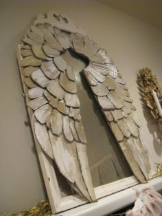 Cardboard angels wings. I am on the floor or maybe thats my jaw! SWOON! This is totally beyond amazing!!!