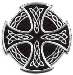 Celtic Cross Irish goth tattoo druids wicca pagan applique iron-on patch new S-5 #Unbranded