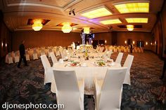 White Spandex Westin Chair Covers - Nace Meeting - www.overthetoplinen.com