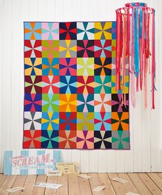 Colour Me Happy Kaleidoscope quilt by Judith Dahmen for issue 15 of Love Patchwork & Quilting magazine
