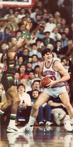 Detroit Pistons' Bill Laimbeer in action, Feb. 21, 1985.  The Detroit News