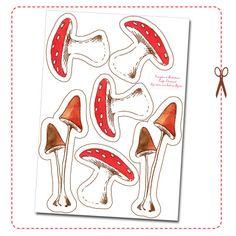 Guirlande champignons