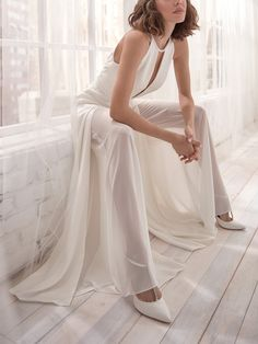 Fashion Sexy Deep V Halter Backless Jumpsuit Wedding Jumpsuit, Backless Jumpsuit, Casual Jumpsuit, White Jumpsuit, Sexy, Jumpsuits For Women, Bell Bottoms, Marie, Pants For Women