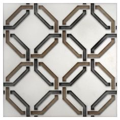 The simplistic Lattice pattern is a timeless modern design that works in the kitchen or bath.  Shown on Carrara