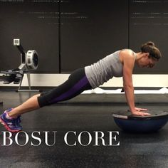 BOSU exercises to work your abs and core.  Click photo for video.  #fitness #BOSU #cardio #core #plank