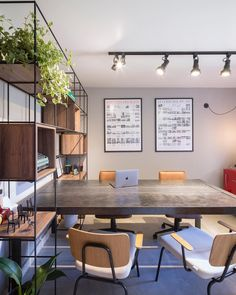 designer homes interior Open Concept Office, Open Office Design, Industrial Office Design, Office Interior Design, Home Office Decor, Office Interiors, Home Decor, Office Art, Office Ideas