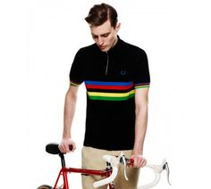 Cycling - Fred Perry For five zip-down pique shirts have been created with  special graphic and technical details ideal for wear on and off your bike. f0e618594