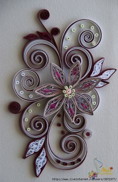 lovely quilled flower