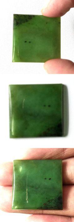 Genuine Natural Green Nephrite Jade Drilled Cross Charm