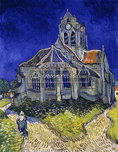 Quadro A Igreja de Auvers – Vincent van Gogh — Quadros e Telas