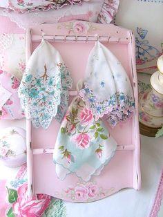 vintage shabby chic handkerchiefs