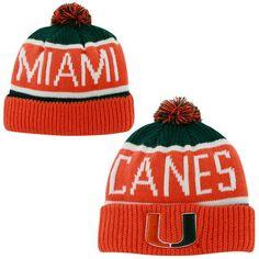 180567d7dc0  47 Brand Miami Hurricanes Calgary Knit Beanie - Orange Green