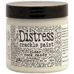 Tim Holtz Distress Crackle Paint - Clear Rock Candy