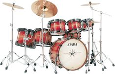 Tama Starclassic Exotix Limited Drum Series Volume 4: Volcanic Fire. I don't tend to like Tama, but I'll give them a chance!!! =)
