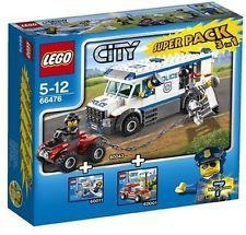 For sale Speelgoedenverzamelshop.nl Lego 66476 City Super Pack 3 in 1 Lego For Sale, City Super, Buy Lego, Lego Group, Lego City, Legos, Packing, Toys, Bag Packaging