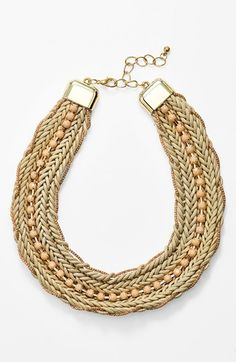 Natasha Couture Woven Collar Necklace available at #Nordstrom