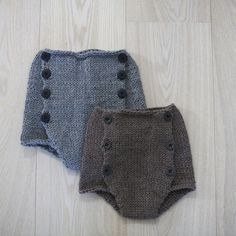 High waist shorts (norwegian and english version) Knitting For Kids, Baby Knitting, Crochet Baby, Knit Crochet, Baby Boy Fashion, Kids Fashion, Knit Vest Pattern, Baby Kind, Baby Baby