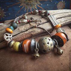 Купить Бусы СЕНТЯБРЬСКАЯ МАМБА отложено - разноцветный, бохо, этно, восточный, африка, антикварные бусины
