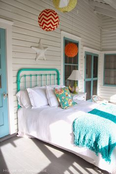 House of Turquoise: Southern Tides - Tybee Island, Georgia - Part 2...Sleeping porch.
