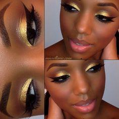 that eyeshadow looks INCREDIBLE against her dark complexion.