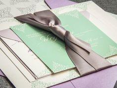 Mint Wedding Invitations, Lilac Wedding Invitations , Garden Wedding, Spring Wedding, Delicate Filigree Design,  by Julie Hanan Design on #Etsy