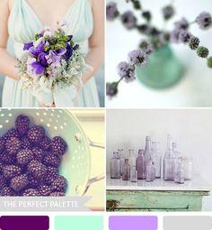 {party palette}: shades of mint + lavender!